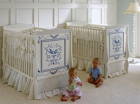 Cuna clásica para bebés gemelos