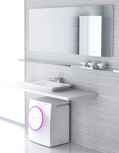 Lavadoras compactas de electrolux para ba os for Lavabo sopra lavatrice