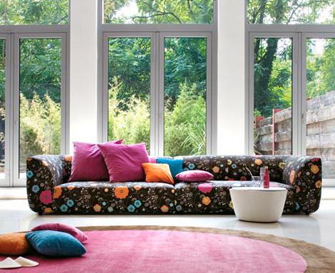 Sof modular moderno de tela for Sofa modular tela