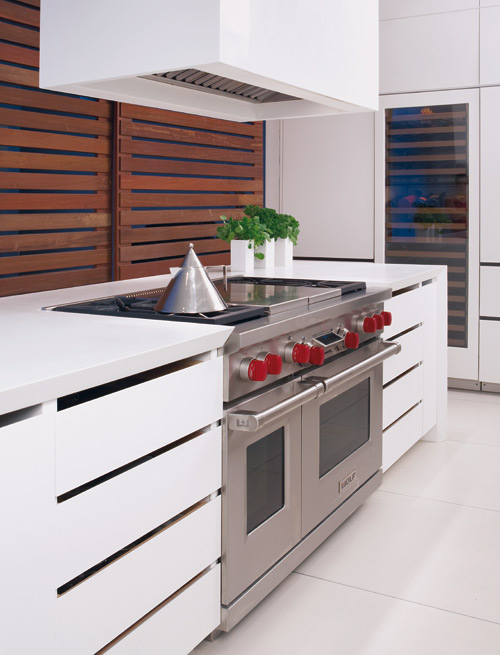 Muebles blancos en la cocina