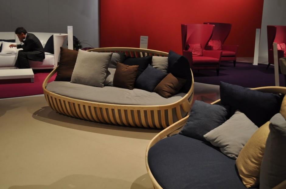 Elegante sof de madera - Sofas de madera ...