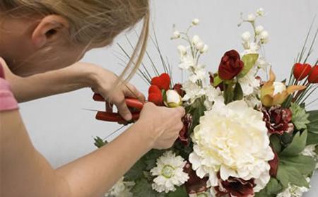 Arreglo floral decorativo con hojas secas - Arreglos florales con flores secas ...