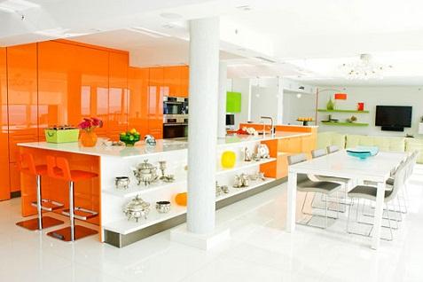 Cocinas de color naranja y plata - Mandarina decoracion ...