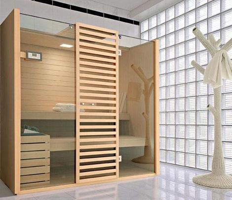 Saunas de dise o de effegibi - Cabine sauna per casa ...