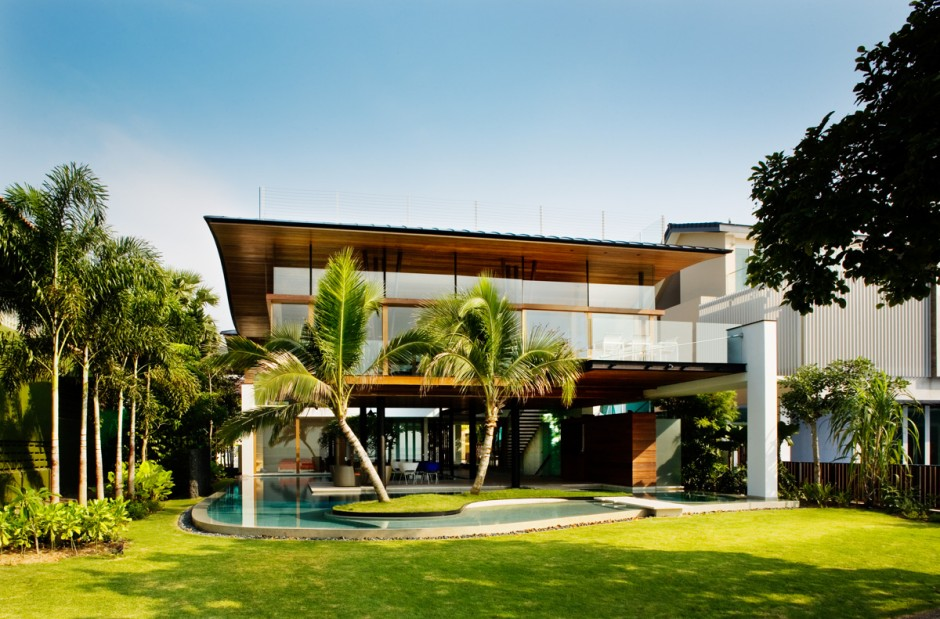 Casa de lujo en singapur for Best house design tropical climate