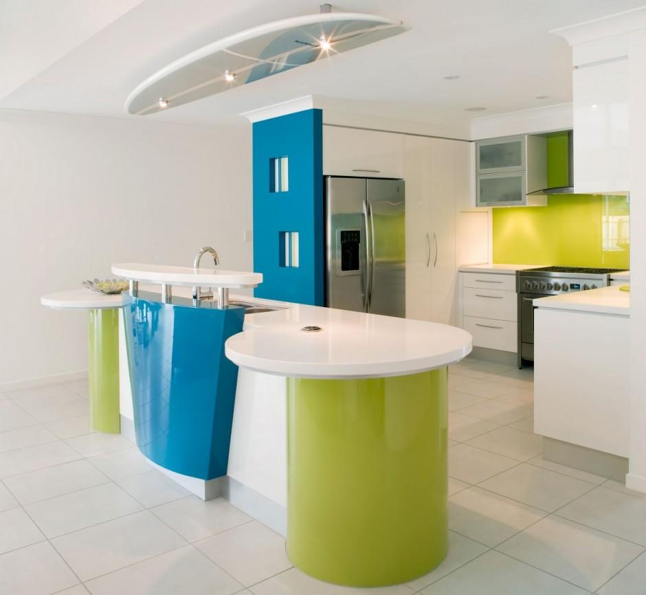 Modular Kitchen Green Color: Cocina Playera Por Kim Duffin
