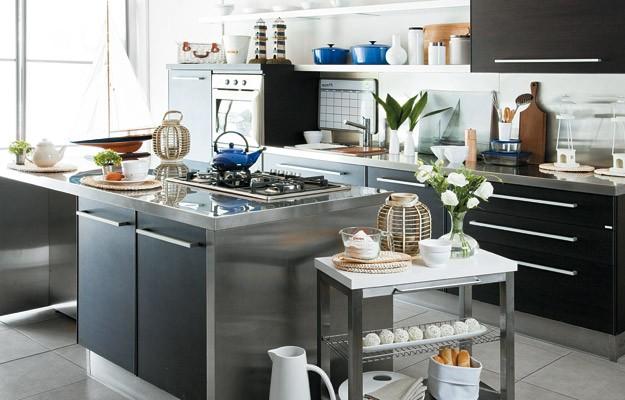 Cocinas que est n de moda for Mesa apoyo cocina
