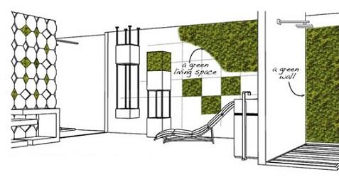 Jardines verticales para interiores for Instalacion de jardines verticales