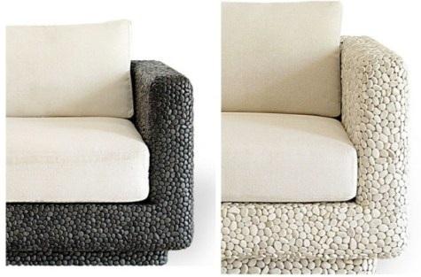 Colecci n de muebles con piedras incrustadas - Muebles de piedra para jardin ...