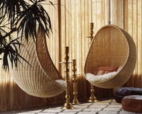 Decorablog revista de decoraci n - Silla colgante mimbre ...