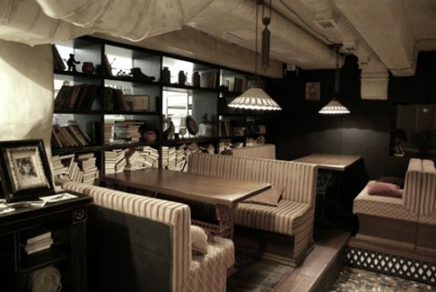 Cafeter a decorada al estilo vintage - Muebles de cafeteria ...