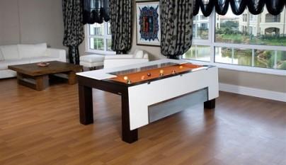 Mesa de billar que se convierte en mesa de comedor for Mueble que se convierte en mesa