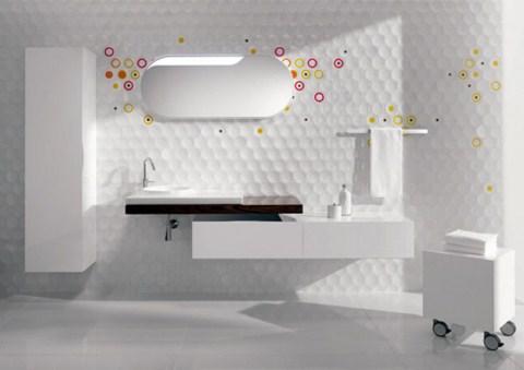 Las paredes del futuro para cuartos de baño