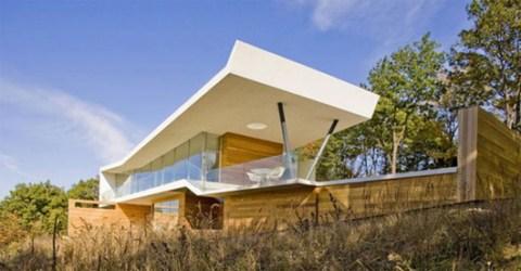 Casa minimalista en la monta a for Casa en la montana