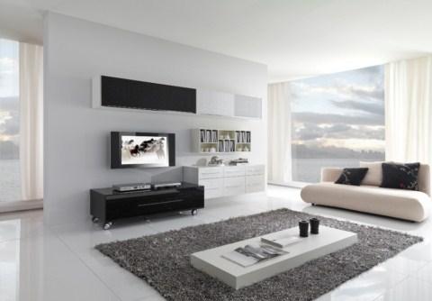 Salones decorados en blanco y negro - Salones en blanco y negro ...