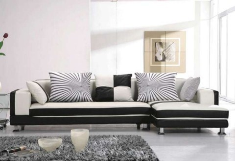 Salones decorados en blanco y negro - Decoracion salon blanco y negro ...