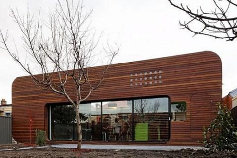 Casa de madera con decoraci n retro - Fotos de casas de madera por dentro ...