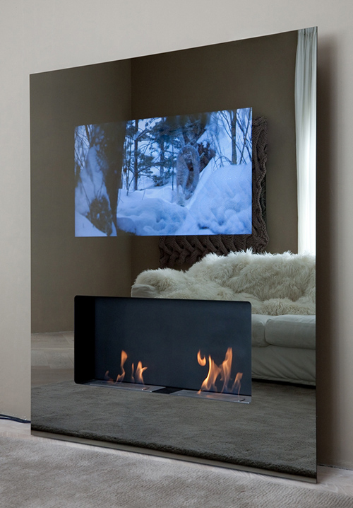 Chimeneas ecológicas con televisión