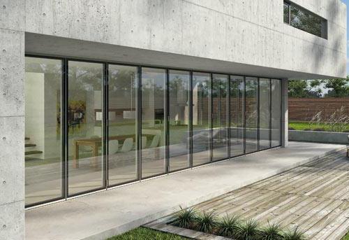 Puertas de cristal plegables de exterior - Cristaleras plegables ...