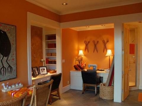 Color naranja para la decoraci n for Taller decoracion de interiores
