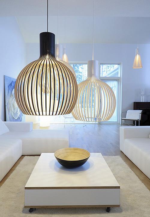 Luces colgantes escandinavas de secto design - Luces exterior ikea ...