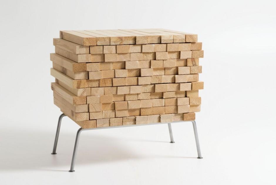 Mueble con listones de madera - Listones de madera ...