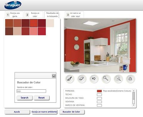 Decorablog revista de decoraci n - Simulador ambientes bruguer ...