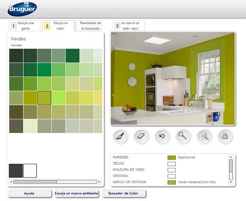 Simulador de ambientes bruguer - Simulador pintar habitacion ...