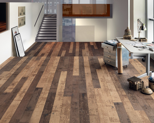 Pisos de madera reciclados por mafi for Hardwood floor color options