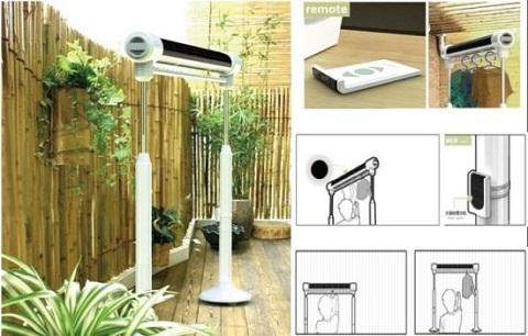 Tendedero que utiliza energ a solar - Tendedero de jardin ...