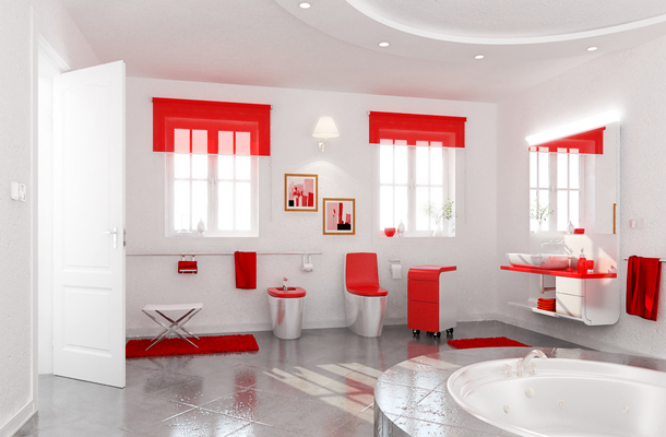 Juegos De Baño Rojos:Cómo elegir los accesorios del baño
