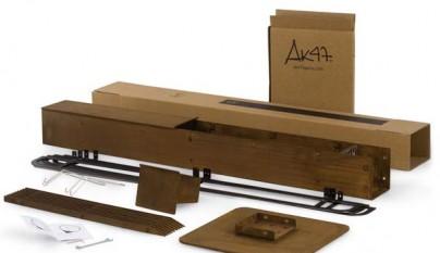 Chimenea exterior con espacio para almacenar madera - Chimeneas campos sl ...