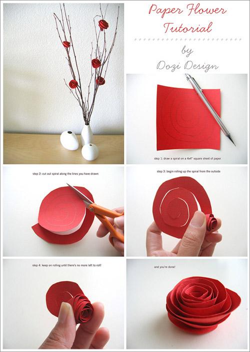 C mo hacer rosas de papel - Como se hacen flores de papel ...
