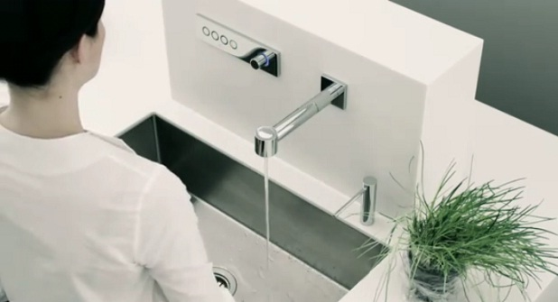 Griferia electronica en las cocinas dornbracht for Griferia electronica
