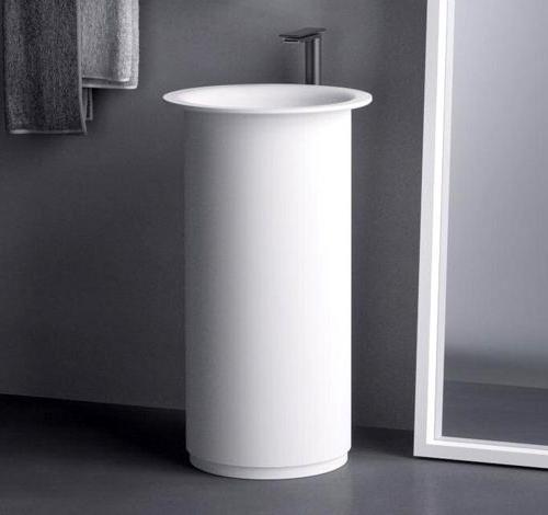 decorar lavabos redondos : decorar lavabos redondos:Lavabos redondos de color blanco