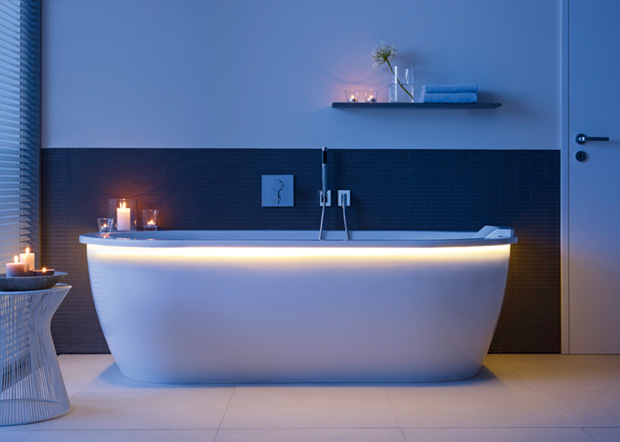 Iluminacion Baño Led:Bañera con luces LED de Duravit