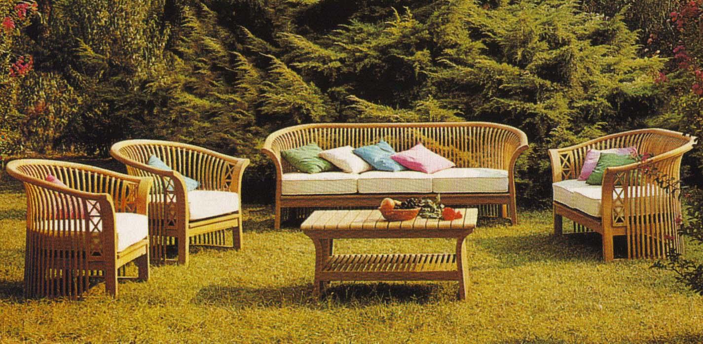 Muebles de exterior de casa viva for Mobiliario exterior para jardin