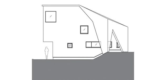Casa asimetrica y minimalista en japon9 for Casa minimalista japon
