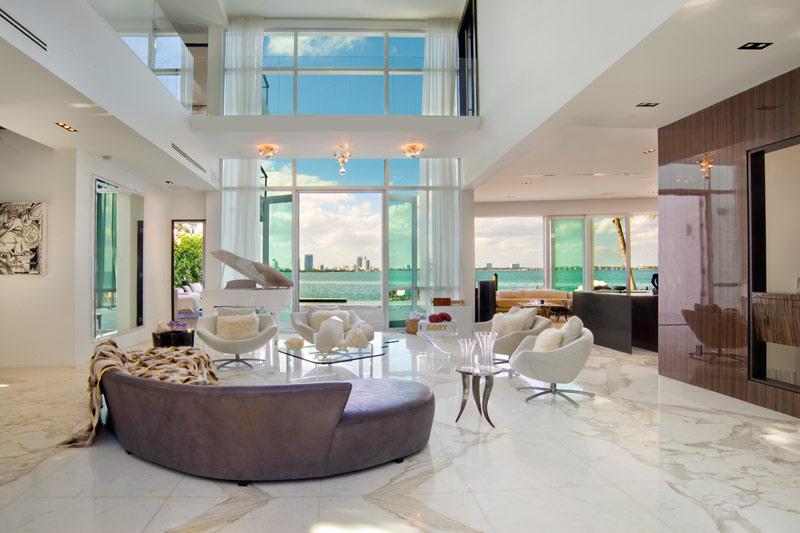 Casas De Decoracion En Miami ~ Casa con piscina en Miami Beach (7 27)