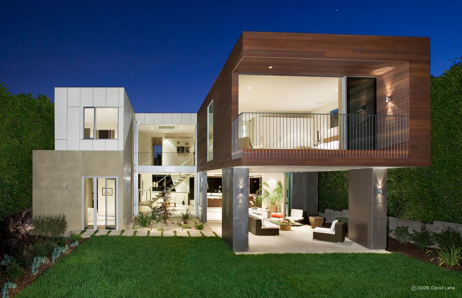 Casa minimalista en los ngeles for Los mejores techos de casas