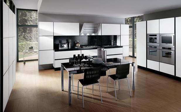 Cocinas en blanco y negro - Cocinas decoradas en blanco ...