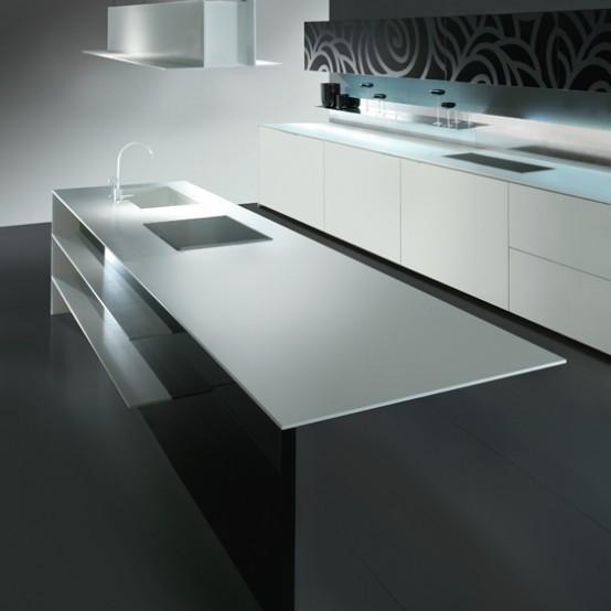 Cocinas en blanco y negro28 for Cocinas en blanco y negro