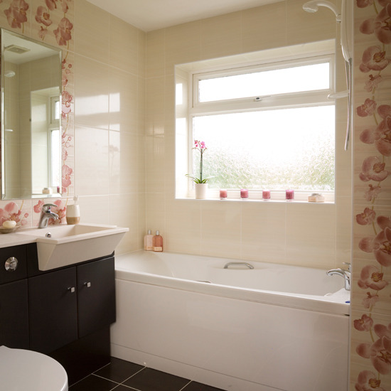 Ideas Para Decorar Baño De Visitas:Floral Bathroom Tile