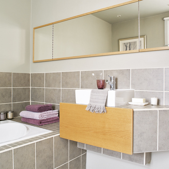 Ideas Para Decorar El Cuarto De Baño:Soft Grey Bathroom Tile