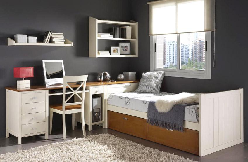 Dormitorio juvenil con cama nido 76 for Cama nido dormitorio juvenil