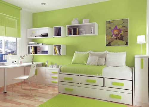 Decorablog revista de decoraci n - Colores verdes para habitaciones ...