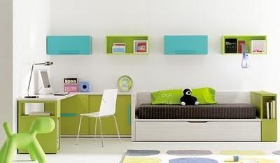 dormitorios-juveniles-blanco-turquesa-verde-manzana