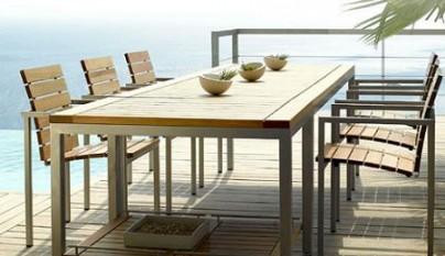 Mesas para terraza for Comedores exteriores para terrazas