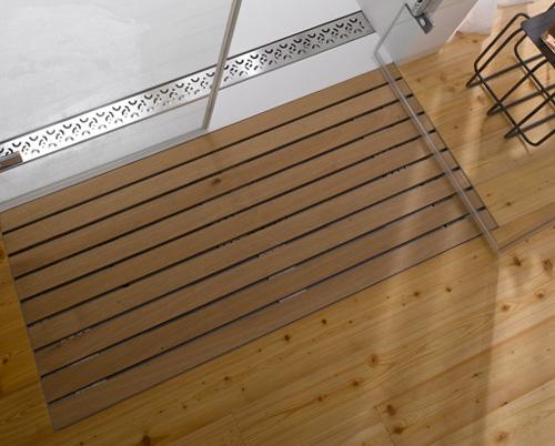 Rejillas de madera para suelos de ducha o sauna - Suelos de ducha ...