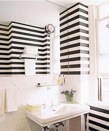 Pintar paredes con rayas - Pintar las paredes ...
